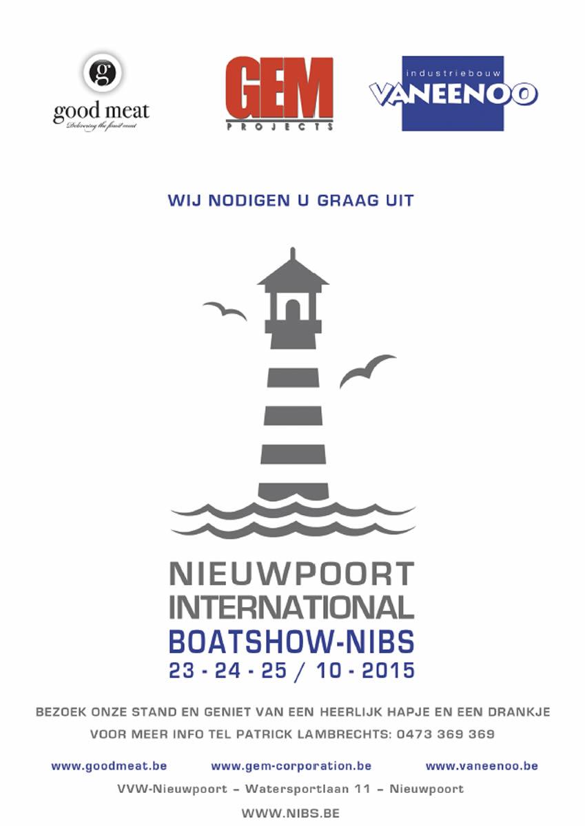 Nieuwpoort International Boatshow - NIBS  23-24-25 okt 2015