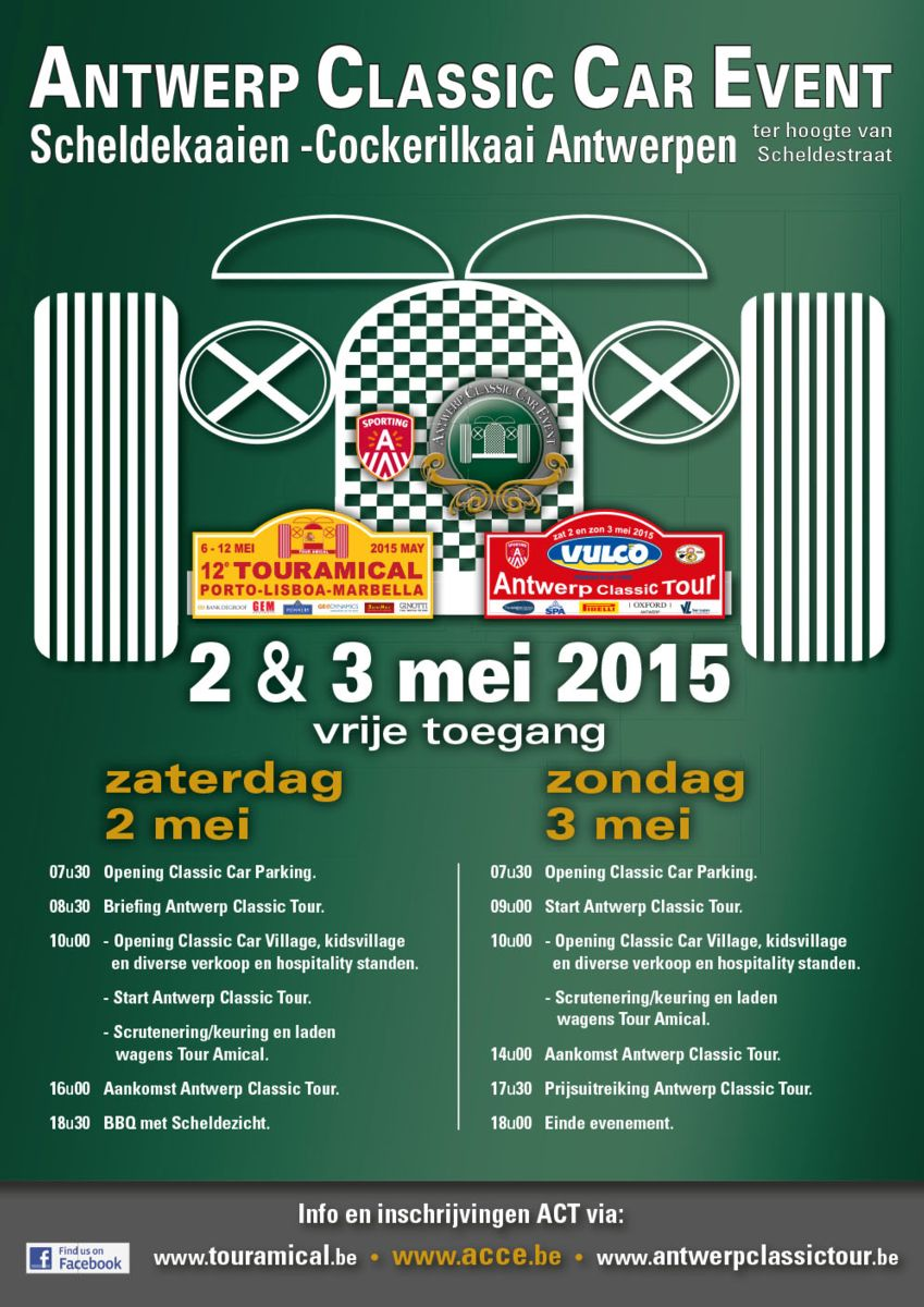 Antwerp Classic Car Event 2-3 mei 2015